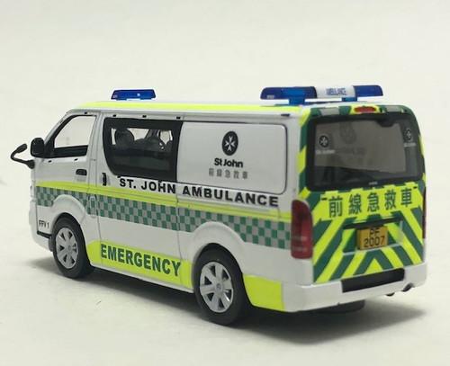 Tiny 1:43 2012 Toyota Hiace: St. John Ambulance