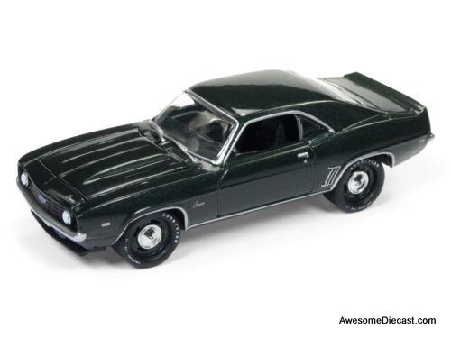 Johnny Lightning 1:64 1969 Chevrolet Camaro 50th Anniversary in Fathom Green