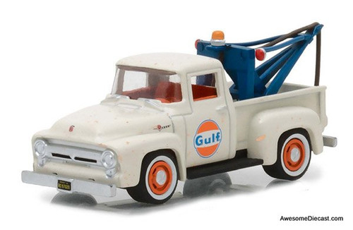 Greenlight 1:64 1956 Ford F-100 w/Drop-in Tow Hook: Gulf Oil