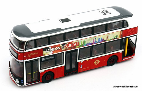 Tiny 1:110 New Routemaster Bus London General Livery LT60 Liverpool Street