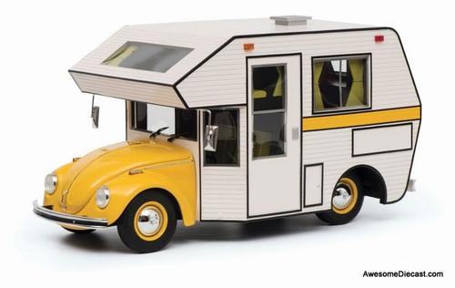 Schuco 1:18 VW Beetle Käfer Camper