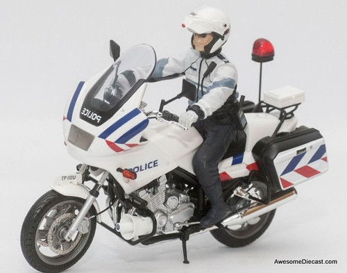 Masterpiece 1:18 Yamaha X900P Police Motorcycle: Singapore Police Force New Livery