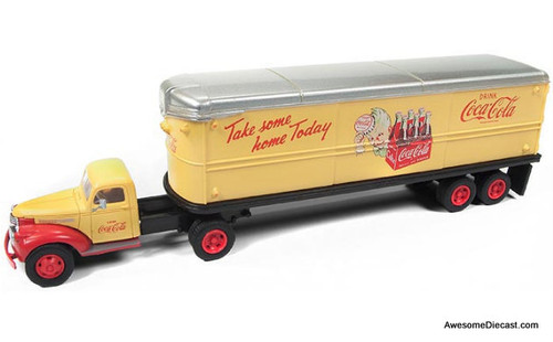 "Classic Metal Works 1:87 1941-46 Chevy Tractor with Trailer ""Coca-Cola"""
