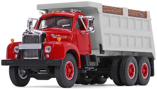 First Gear 1:64 Mack B-61 Dump Truck Red / Gray