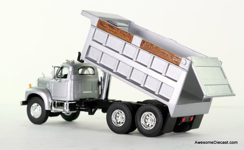 First Gear 1:64 Mack B Dump Truck / Silver