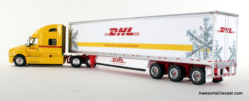 DCP 1:64 2018 International LT w/ Tri-Axle: DHL / Temperature Controlled Network 34207 Rear View