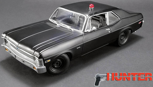 GMP 1:43 1969 Chevrolet Nova Un-Marked Police Car: Hunter TV Show