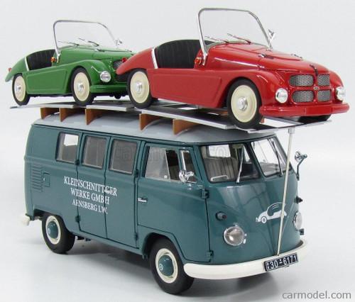 Schuco 1:18 Volkswagen T-1 Van w/ 2 1962 F125 Spider Cabriolets
