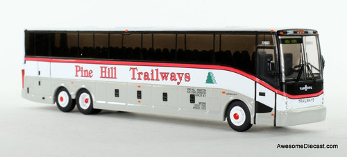 Iconic Replica 1:87 VanHool CX-45 Motorcoach: Pine Hill Trailways - New York (87-0130) Front View