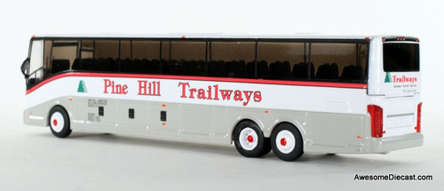 Iconic Replica 1:87 VanHool CX-45 Motorcoach: Pine Hill Trailways - New York (87-0130) Rear View