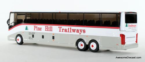 Iconic Replica 1:87 VanHool CX-45 Motorcoach: Pine Hill Trailways - New York (87-0130) Rear View