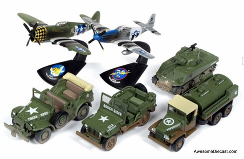 Johnny Lightning 1:64 Military Set of 6: D-Day - 75 Years