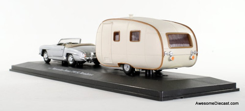 K-Line 1:43 Mercedes-Benz 190 SL Roadster w/ Travel Trailer