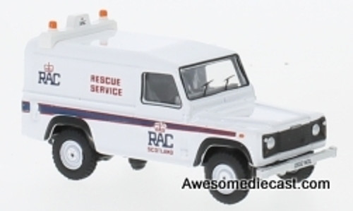Oxford 1:76 Land Rover Defender LWB Hardback: RAC Rescue Service