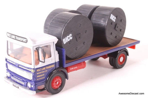 Corgi 1:50 Leyland Super Comet Platform Lorry Blue- Holt Lane Transport
