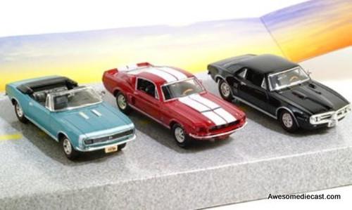 Ertl 1:43 1967 Set: Chevy Camaro SS 396, Pontiac Firebird, Shelby GT 350T