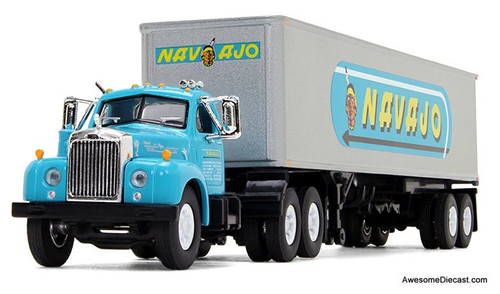 First Gear 1:64 Mack B-61 Day Cab w/ 40' Vintage Trailer: Navajo Freight Lines