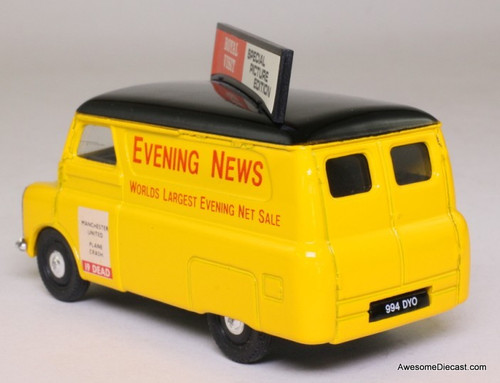 Corgi 1:43 Bedford CA Van, Yellow 'Evening News'