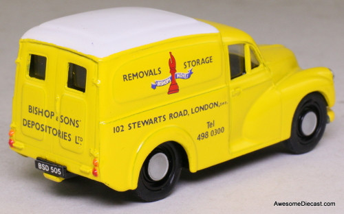 Corgi 1:43 Morris Minor 1000 Van, Yellow 'Bishop Move'