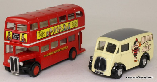 Corgi Morris J Van & AEC Bus 'The Bash Street Kids'