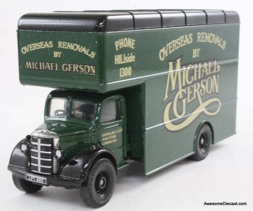 Corgi 1:50 Bedford O Series Pantechnicon, Green 'Michael Gerson Removals'