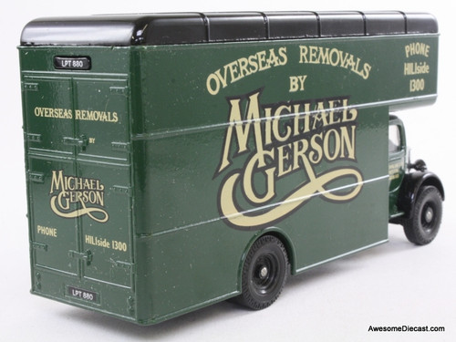 Corgi 1:50 Bedford O Series Pantechnicon, Green 'Michael Gerson Removals'