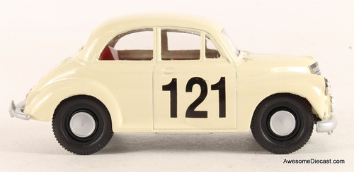 Corgi 1:43 Morris Minor, White 'Pat Moss Rally Car'