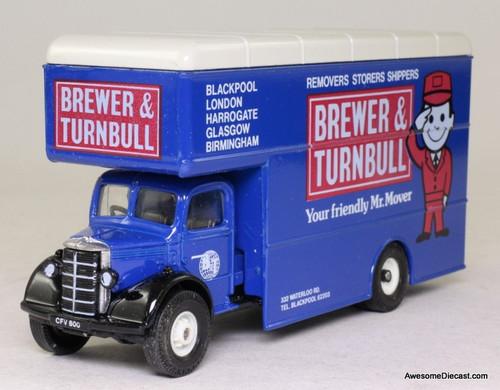 Corgi 1:50 Bedford O Series Pantechnicon, Blue 'Brewer & Turnbull Movers'