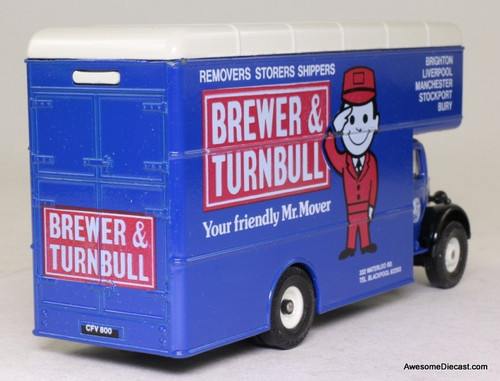Corgi 1:50 Bedford O Series Pantechnicon, Blue 'Brewer & Turnbull Movers'