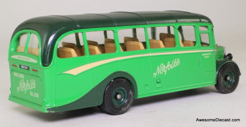Corgi 1:50 Bedford Type OB Coach, Green 'Norfolks'