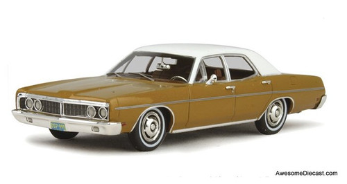 Goldvarg Collection 1:43 1970 Ford Galaxie, Caramel Bronze/White