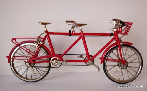 Diecast 1:10 Tandem Bike ,Red
