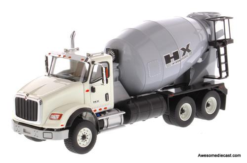 Diecast Masters 1:50 International HX615 Concrete Mixer in White with Light Grey Mixer Drum
