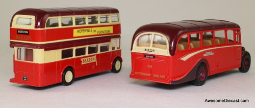 Corgi 1908-1989 2 Bus set Bedford OB Coach & AEC Regent Double Decker 'Barton Transport'