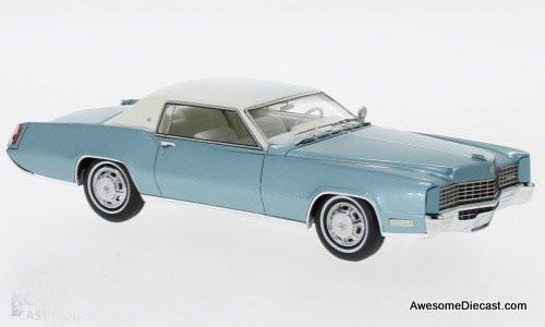 Neo 1:43 1967 Cadillac Eldorado Coupe, Metallic Turquoise / White