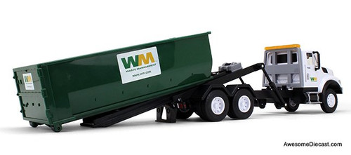 First Gear 1:24 International WorkStar w/Roll-Off Container,  Lights & Sounds: Waste Management