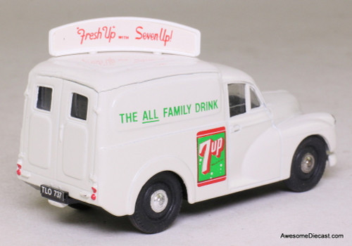 Corgi 1:43 Morris Minor 1000 Van, white '7Up'