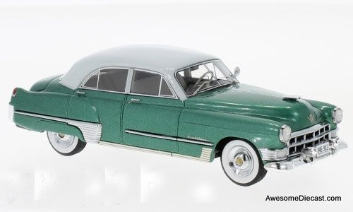 Neo 1:43 1949 Cadillac Series 62 Touring Sedan, Green/Grey