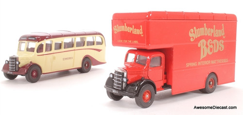 Corgi Northern Collection Bedford O Series Pantechnicon & Bedford OB Coach