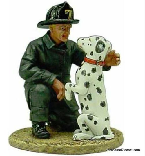 Del Prado 1:32 Fireman Figure With Dalmatian: San Francisco Fire Department