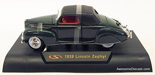 Signature models 1:32 1939 Lincoln Zephyr Convertible, Black