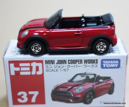 Tomica 1:57 Mini Convertible, Red 'John Cooper Works'