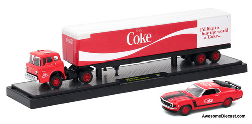 M2 Machines 1:64 1970 Ford C-600 & 1970 Ford Mustang Boss 'Coca Cola'