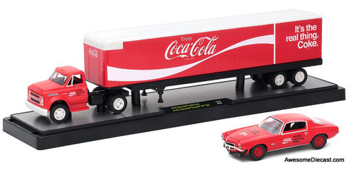 M2 Machines 1:64 1970 Chevrolet C60 Truck & 1971 Chevrolet Camaro SS 'Coca Cola'