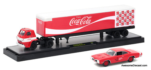 M2 Machines 1:64 1970 Dodge L600 COE & 1970 Dodge Super Bee 383 'Coca Cola'