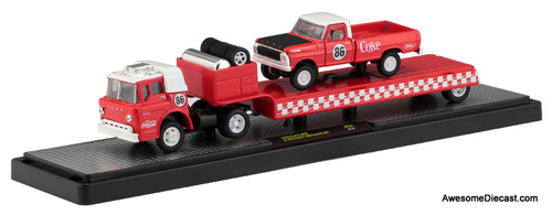 M2 Machines 1:64 1970 Ford C-600 & 1970 Ford F-100 Custom 4x4 'Coca Cola'