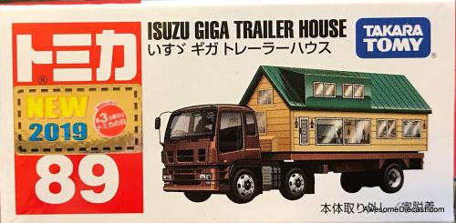 Tomica Isuzu Giga Trailer House