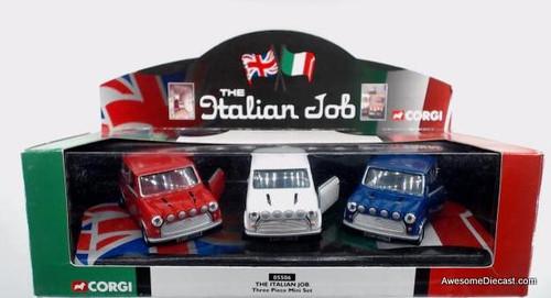 Corgi 1:43 The Italian Job, 3 Piece Mini Cooper Set