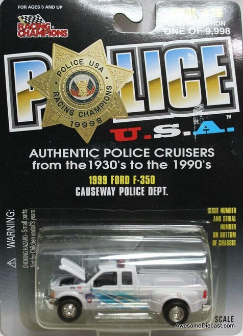 Racing Champions 1:67 1999 Ford F-350 'Causeway Police Department'