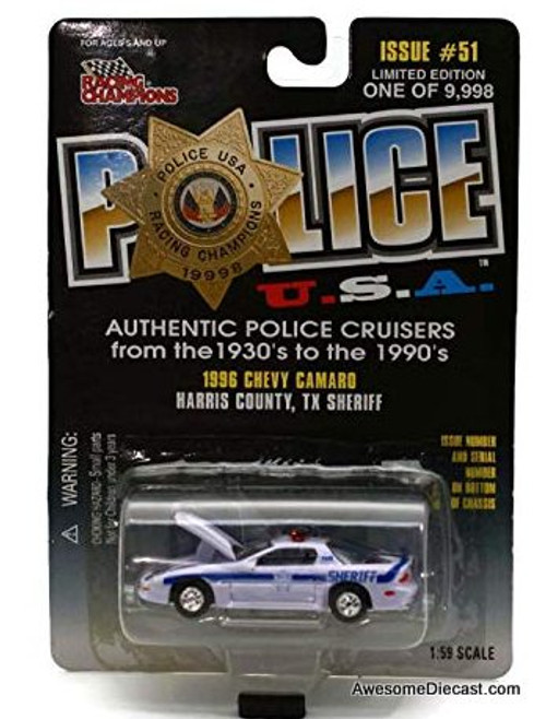 Racing Champions 1:59 1996 Chevrolet Camaro 'Harris County TX Sheriff'